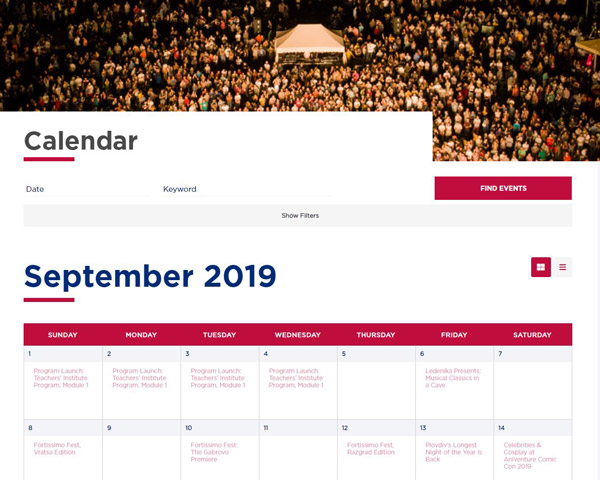 ABF Calendar